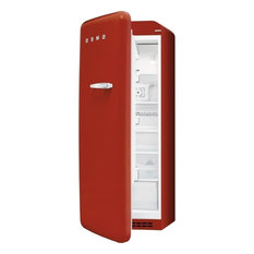 50's Retro Style Aesthetic Refrigerator, Red, Left Hand Hinge