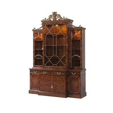 George III Chippendale Breakfront Bookcase