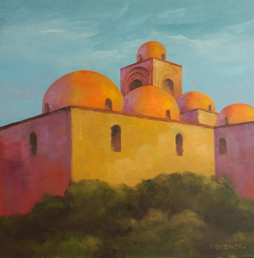 San Giovanni degli Eremiti, Palermo, 30x30, framed