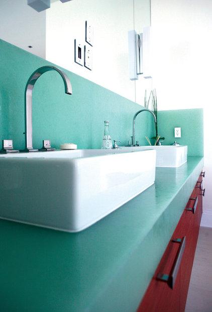 bathroom countertops BioGlass, Oriental Jade