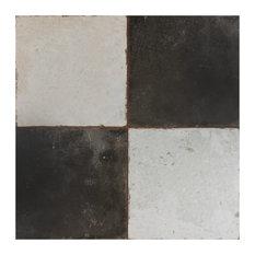 """SomerTile 17.75""""x17.75"""" Kings Ceramic Floor/Wall Tile, Damero"""