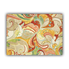 Flourina Yellow Indoor/Outdoor Placemat, Finished Edge