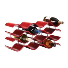 Bali 12-Wine Rack, Ebony, Red