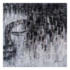 Buddha's Thinking II- Hand Painted Canvas Art