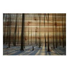 """""""Papineau"""" Print on Wood by Parvez Taj, 100x70 cm"""
