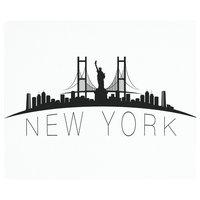 "Vance 12x10"" New York City Skyline Saver Tempered Glass Cutting Board"