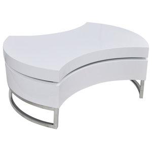 vidaXL Adjustable  Coffee Table, White