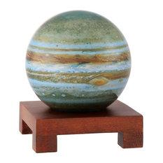 """MOVA 6"""" Jupiter Revolving Globe With Square Natural Wood Base"""