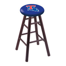 Oak Counter Stool Dark Cherry Finish With Louisiana Tech Seat 24-inch