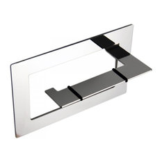 Self-Adhesive Toilet Roll Holder, Shiny Silver