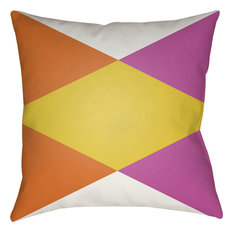 Moderne, Bright Orange, Bright Pink, White, Bright Yellow, 22x22x5