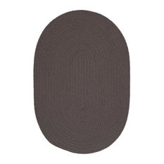 Colonial Mills, Inc - Colonial Mills Boca Raton Gray Rug, 10x13, Oval - Outdoor Rugs