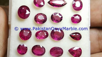 RUBY FACETED CUT STONES SHAPES ROUND OVAL EMERALD NATURAL UNHEATED LOOSE STONES