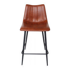 Moe's Home Alibi Faux Leather Counter Stool In Brown (Set Of 2)