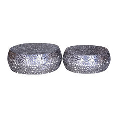 Daisies Iron Coffee Tables, Set of 2