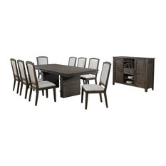 Sunset Trading Cali 10-Piece Extendable Dining Table Set With Server
