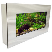 Aussie Aquariums 2.0 Wall Mounted Aquarium - View Brushed Silver