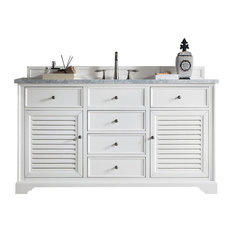 "Savannah 60"" Cottage White Single Vanity"