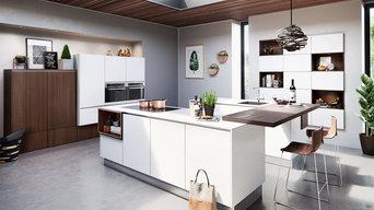 Moderne Designküchen mit hellen Fronten