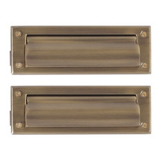 "Mail Slot 3""x10"", Antique Brass"