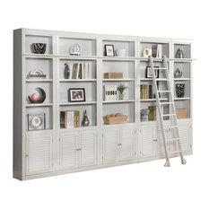Parker House Boca 5-Piece Library Bookcase Cottage White