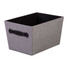 Creative Scents   Storage Bin With Handles, Gray Birch   Storage Bins And  Boxes