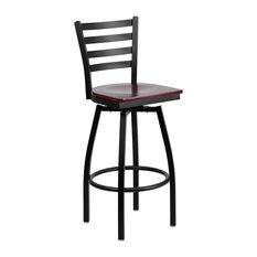 flash furniture flash furniture hercules swivel metal bar stool mahogany and black bar stools