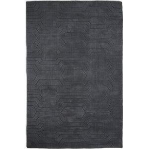 Circuit CIR03 Rug, Dark Grey, 150x240 cm