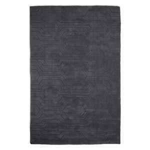 Circuit CIR03 Rug, Dark Grey, 120x170 cm