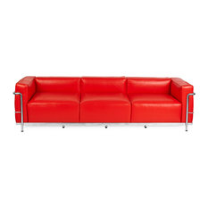 Modern Red Leather Sofas | Houzz