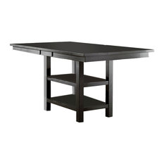 Willow Rectangular Counter Height Table, Distressed Black