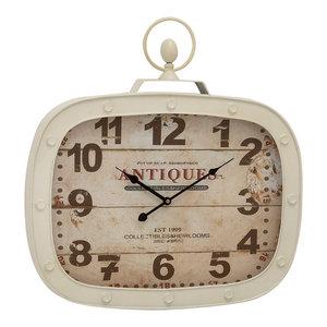 Vintage Reflections Metal Wall Clock, Multi Color