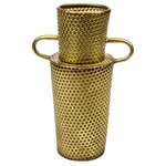 Sagebrook Home - Textured Vase, Metal, Gold, Med - Sagebrook Home has been formed from a love of design, a commitment to service and a dedication to quality. We create and import fashion forward items in the most popular design styles.