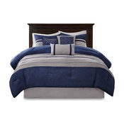 Madison Park Microsuede-Pieced 7-Piece Comforter Set, King