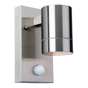 Colt Single Outdoor Wall Light With PIR
