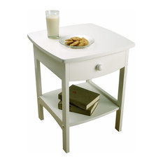 winsome wood curved night stand in white nightstands and bedside tables