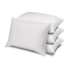 4-Pack Dobby Windowpane Soft Stomach Sleeper Pillows, Standard