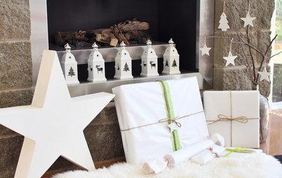 Dekorer enkelt til en snehvid jul