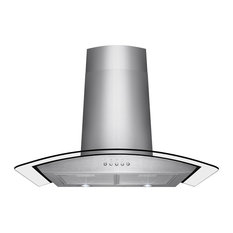 "AKDY Euro Stainless Steel Wall Mount Range Hood, 30"", Duct/Pipe"