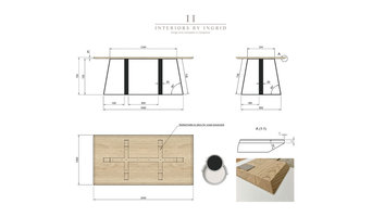 Dining Table- Technical Drawing