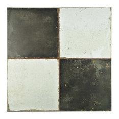 "17.75""x17.75"" Royals Ceramic Floor/Wall Tiles, Damero"