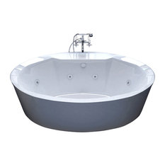 60 inch freestanding tub canada. Venzi  Sole 34x68 Oval Freestanding Whirlpool Jetted Bathtub Bathtubs Two Person Houzz