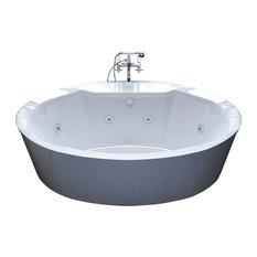Venzi   Venzi Sole 34x68 Oval Freestanding Whirlpool Jetted Bathtub    Bathtubs