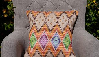 Zig Zag Multi Coloured Striped Cushion