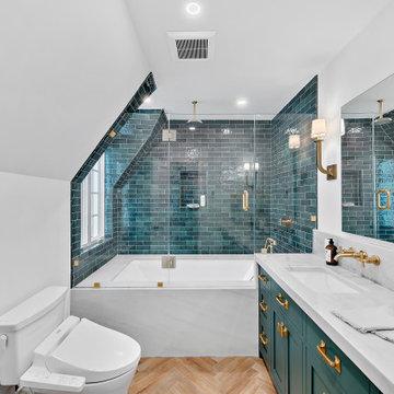 Green Master Bathroom