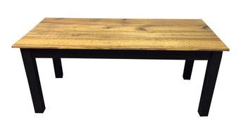 """Barn Wood and Black Farm Table, 72"""""""