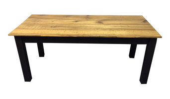 Barn Wood and Black Farm Table, 72""