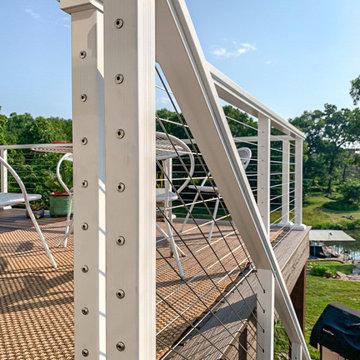 Cable Rail Lake Deck