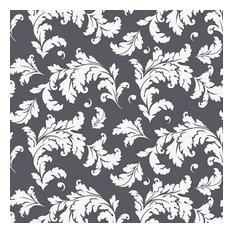 Oak Leaf Charcoal Shelf Paper Drawer Liner, 36x12, Laminated Vinyl