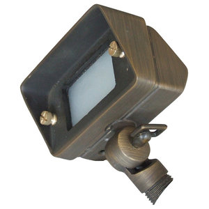 Bronze Outdoor Swivel Light, Green-Grey